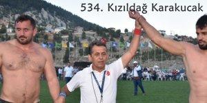 534. Kızıldağ Karakucak Güreşleri tamamlandı