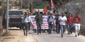 Batı Şeria'da Yahudi yerleşimcilere tepki yürüyüşü