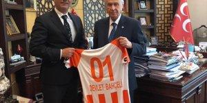MHP lideri Devlet Bahçeli, Adanaspor Başkanı Bayram Akgül'ü kabul etti