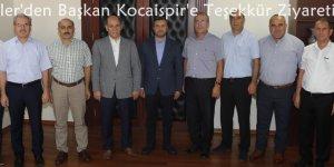 Eğitimciler'den Başkan Kocaispir'e Teşekkür Ziyareti