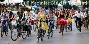 """Çukurova'da """"Süslü Kadınlar Bisiklet Turu"""" etkinliği"""