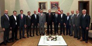 Erdoğan, Türkiye-AB Karma İstişare Komitesi üyelerini kabul etti