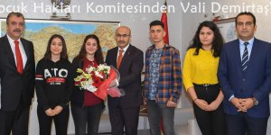 Adana Çocuk Hakları Komitesinden Vali Demirtaş'a Ziyaret