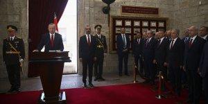 Erdoğan: Terör koridorunu dağıtarak kararlılığımızı tüm dünyaya gösterdik
