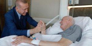 Erdoğan'dan Şevket Kazan'a ziyaret