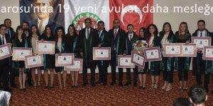 Adana Barosu'nda 19 yeni avukat daha mesleğe başladı