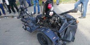 Adana'da sıra dışı motosikletiyle denetlemeye takılan sürücüye ceza