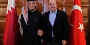 Dışişleri Bakanı Çavuşoğlu Katarlı mevkidaşını kabul etti
