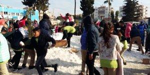 Öğrencilere kar eğlencesi