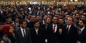 """AK Parti Sözcüsü Çelik """"Genç Kürsü"""" programında konuştu.."""