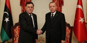 Erdoğan, Libya UMH Başkanlık Konseyi Başkanı Sarraj'ı kabul etti
