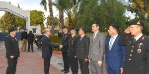 Vali Demirtaş İl Jandarma Komutanlığında Brifing Aldı