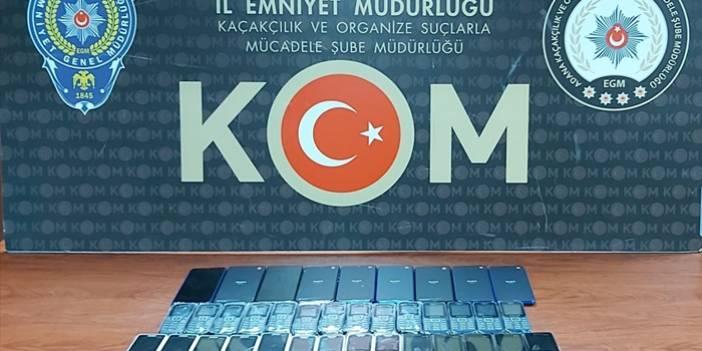 Adana'da gümrük kaçağı 37 cep telefonu ele geçirildi