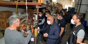 Adana'da 1060 litre sahte el dezenfektanı ele geçirildi