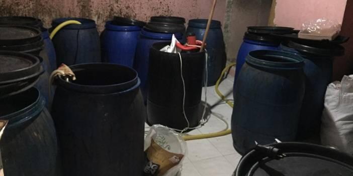 Adana'da 3 bin 600 litre sahte içki ele geçirildi