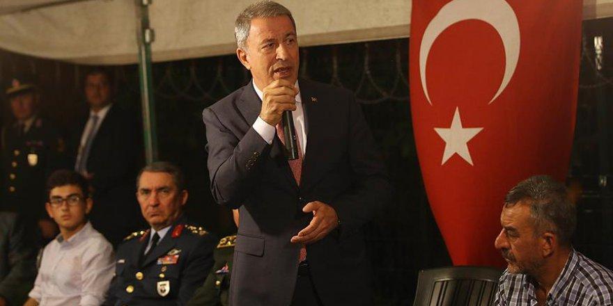 Bakan Akar: TSK her türlü gayreti göstermeye devam edecek