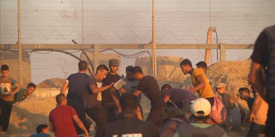 İsrail Gazze sınırındaki barışçıl gösteriye müdahale etti