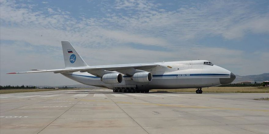 S-400 sevkiyatı kapsamında 9. uçak Mürted'e indi