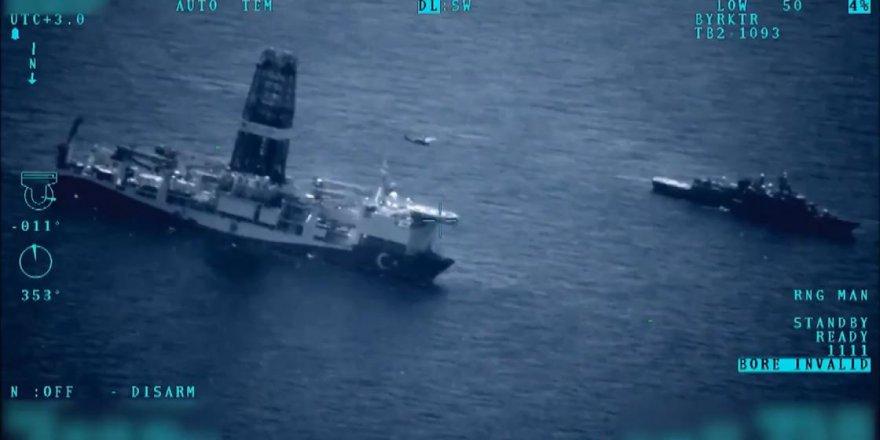 Deniz Kuvvetleri Komutanlığı, Doğu Akdeniz'de sondaj gemilerine kesintisiz refakat ediyor
