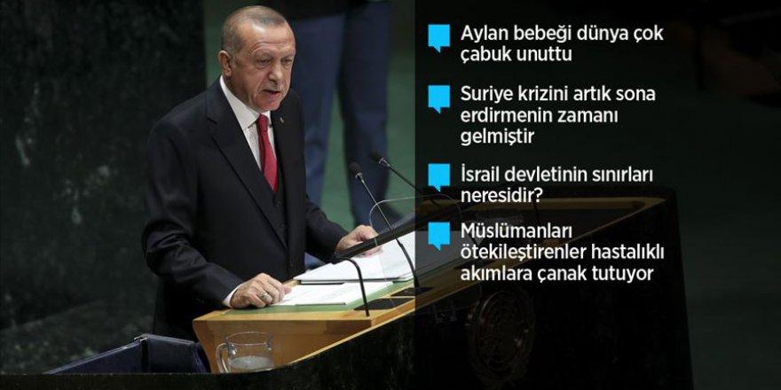 Cumhurbaşkanı Erdoğan BM'de konuştu: Dünya 5'ten büyüktür