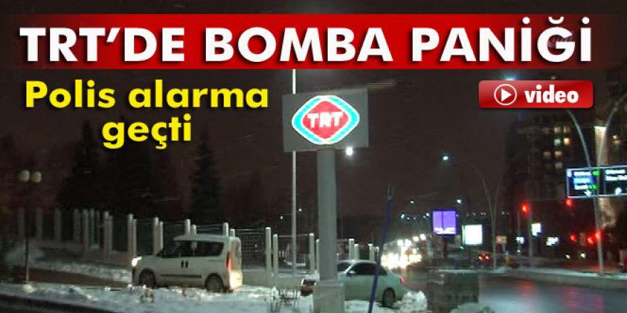 TRT Genel Müdürlüğü'nde bomba paniği