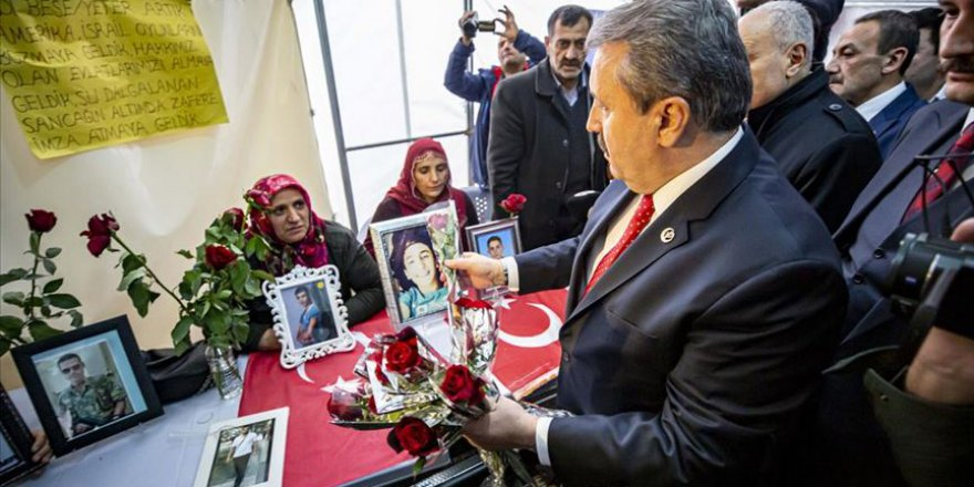 BBP Genel Başkanı Destici'den Diyarbakır annelerine destek ziyareti