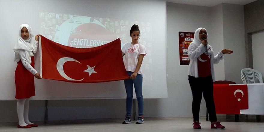 Miraç Cami Kız Kuran Kursu Öğrencilerinin 15 Temmuz Programı