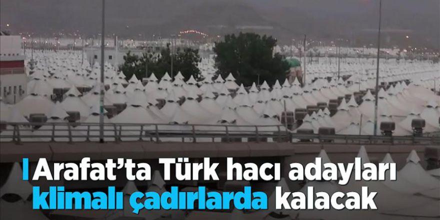 Arafat'ta Türk hacı adayları klimalı çadırlarda kalacak