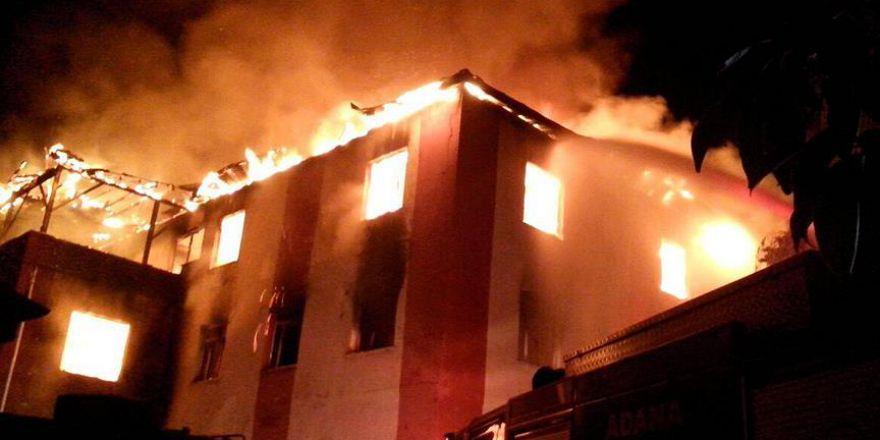 Adana Aladağ'da özel öğrenci yurdunda yangın