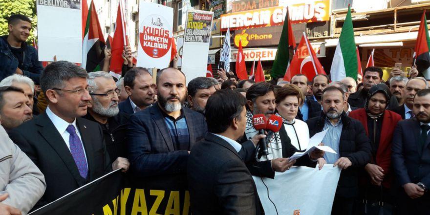 ABD'nin Kudüs Kararı Adana 5 Ocak Meydanında Protesto Edildi..